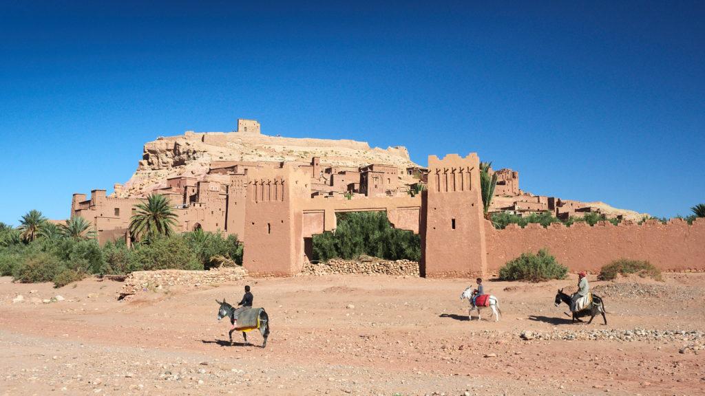 Ansicht der marokkanischen Lehmstadt Ait-Ben-Haddou