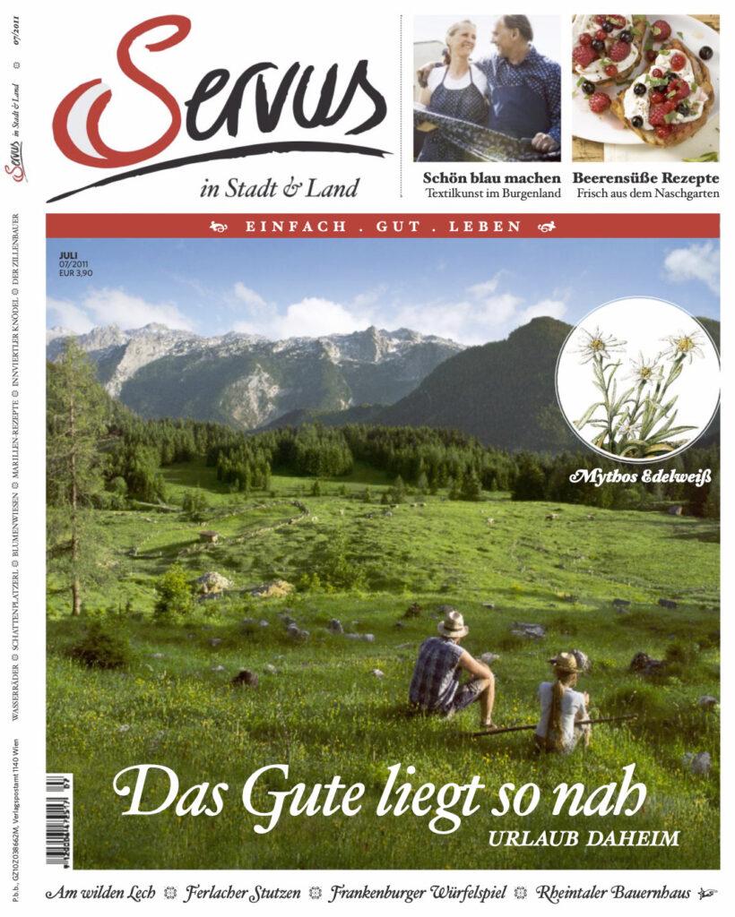 Servus in Stadt und Land Ausgabe Juli 2011 Cover Foto von Peter Podpera